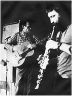 picture of Derek Bailey and Evan Parker 